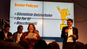 Gästeliste Geisterbahn: Golden Blogger 2019